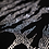 Thumbnail: Rhinestone Cross-Neck Hoodie