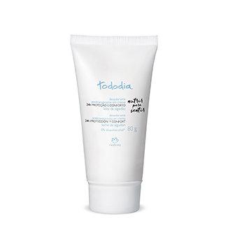 Tododia - Desodorante Antitranspirante en crema - Leche de Algodón