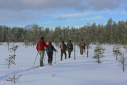Active winter holiday