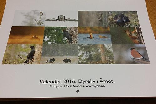 2016 Kalender. Dyreliv i Åmot.