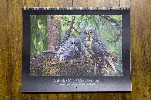 Ugler i Elverum - Fotokalender 2019