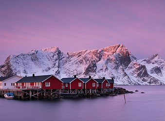 Lofoten landscape Hamnøy Reine
