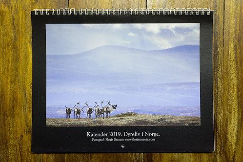 Dyreliv i Norge - Fotokalender 2019
