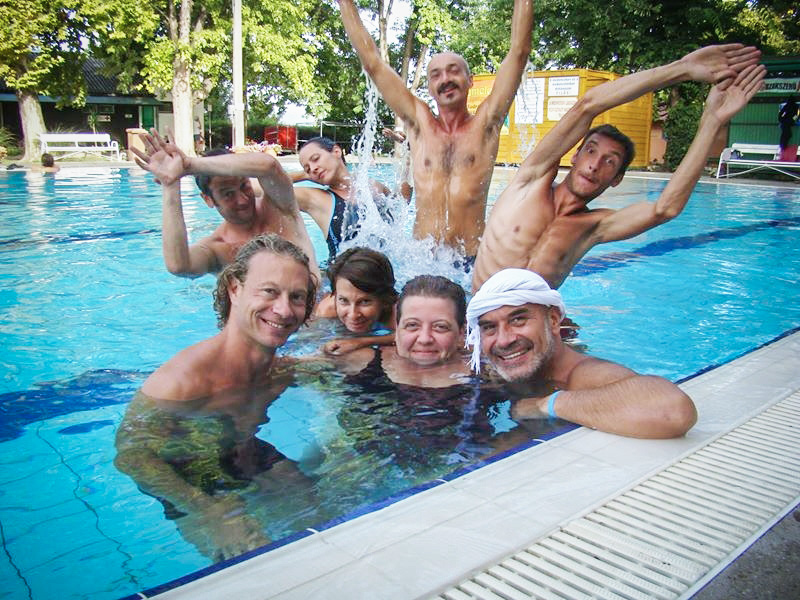 Část mých maďarských spolu-studentů