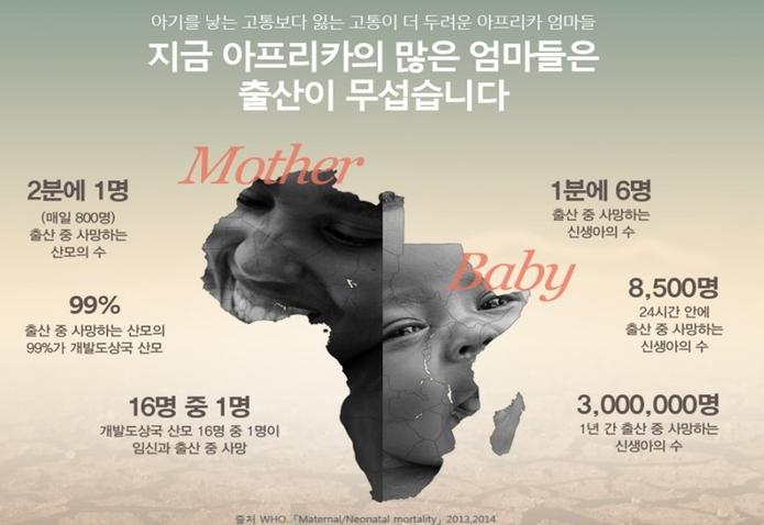 아기를 낳은 고통보다 잃는 고통이 더 두려운 아프리카 엄마들이 있습니다.
