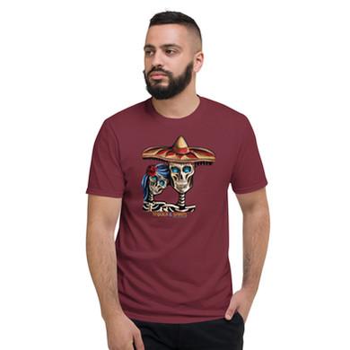 unisex-lightweight-t-shirt-maroon-front-