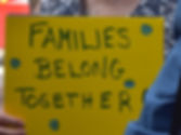 Immigration sign families belong togethe