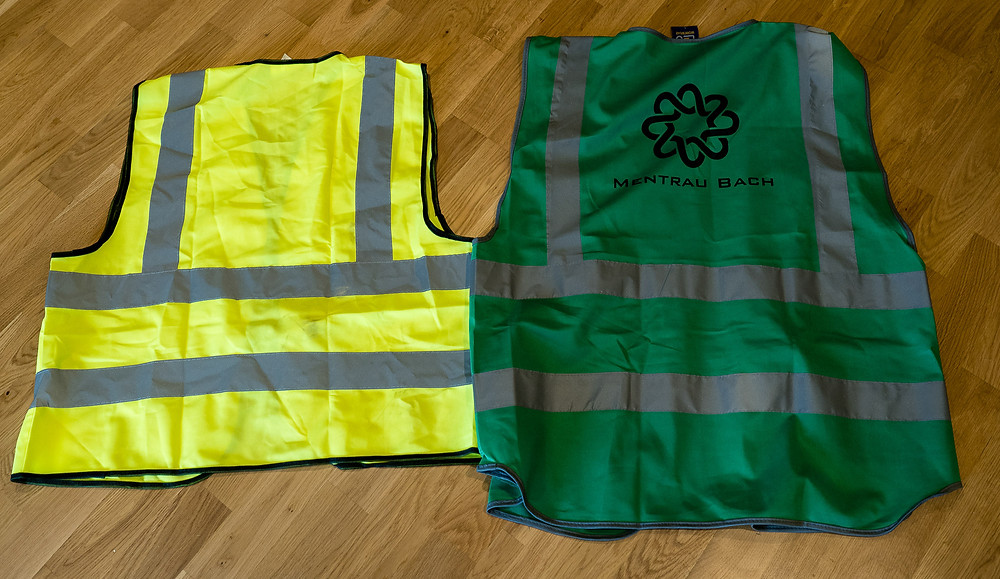 Hi Viz vest, and Easy to Identify branded vest