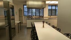 Salle pour le cours et déjeuner