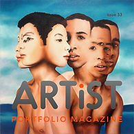 Artist and painter Szekely Szilard in Artist portofolio magazine issue 33