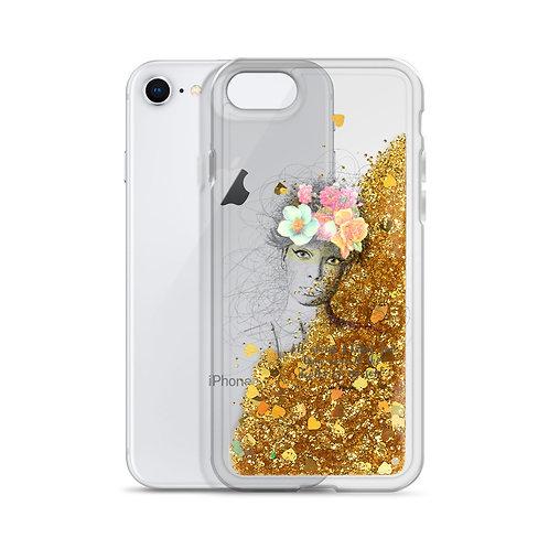 Flower Girl - Liquid Glitter Phone Case