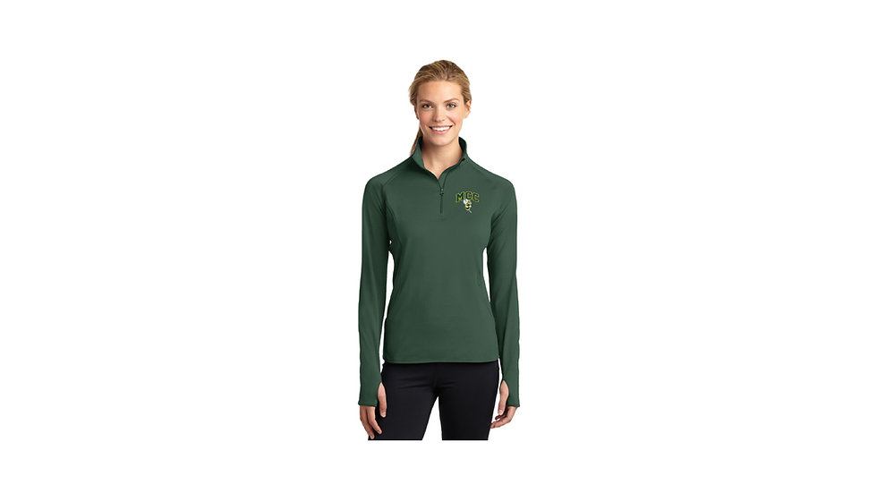Embroidered Sport-Tek Ladies Stretch 1/2-Zip Pullover