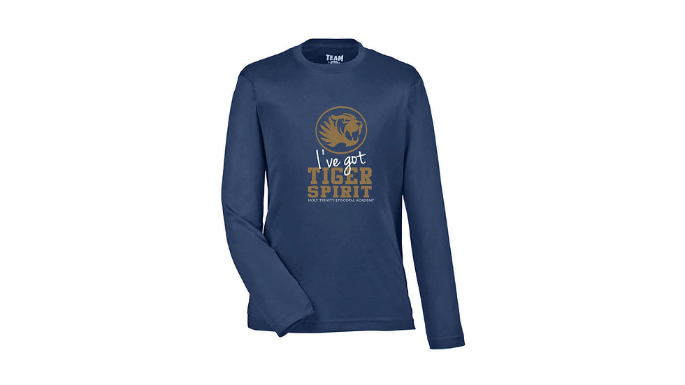 Lower School (Youth Size only) Long Sleeve Screen Printed Spirit T-Shirt