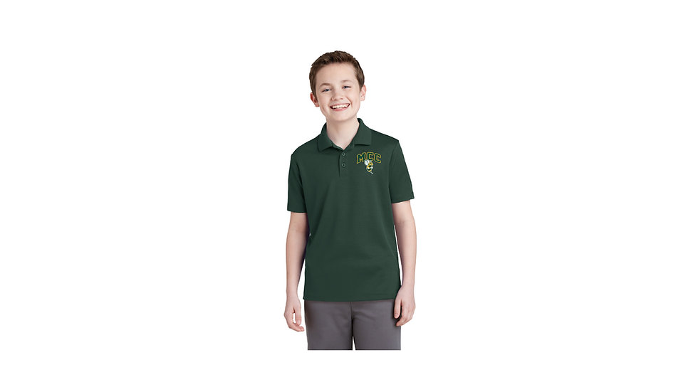 Embroidered Sport-Tek Youth PosiCharge RacerMesh Polo