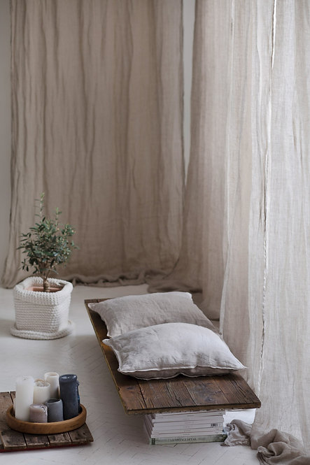 naturelle gardiner av lin