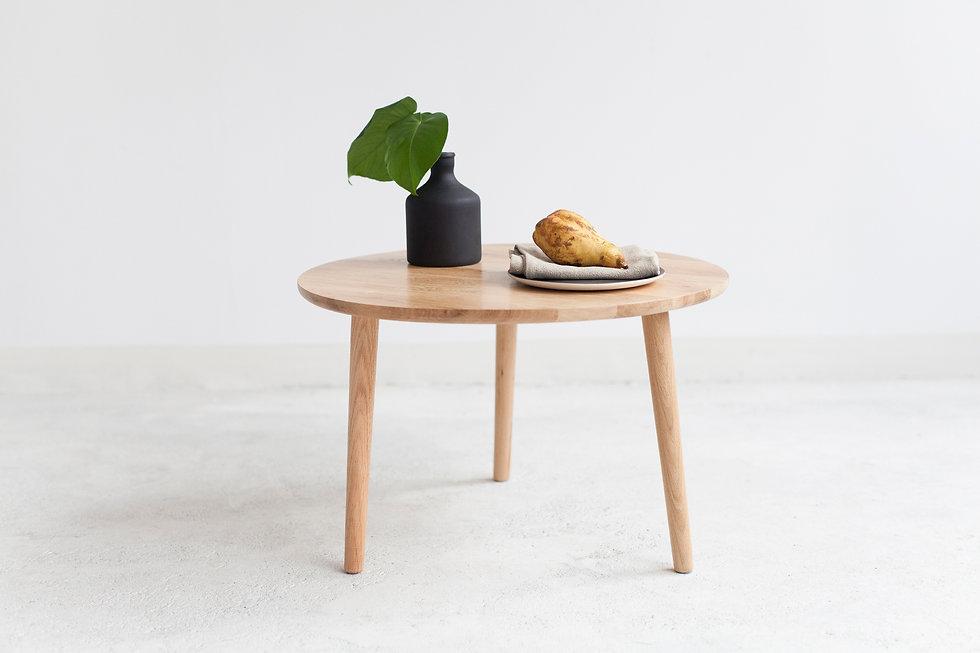 sofabord #2 | eik Ø60