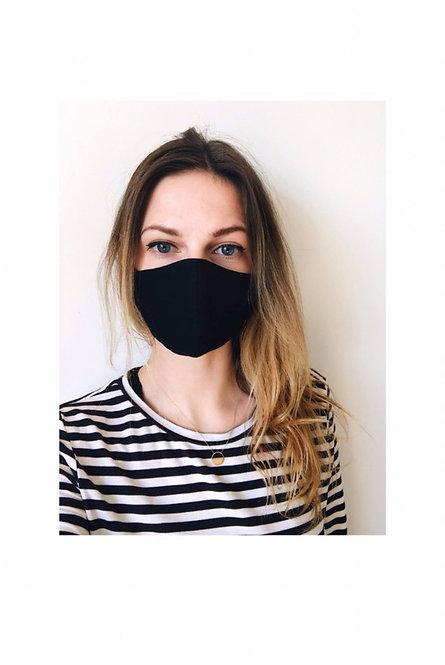 munnbind til kvinner | sort profilert tekstur