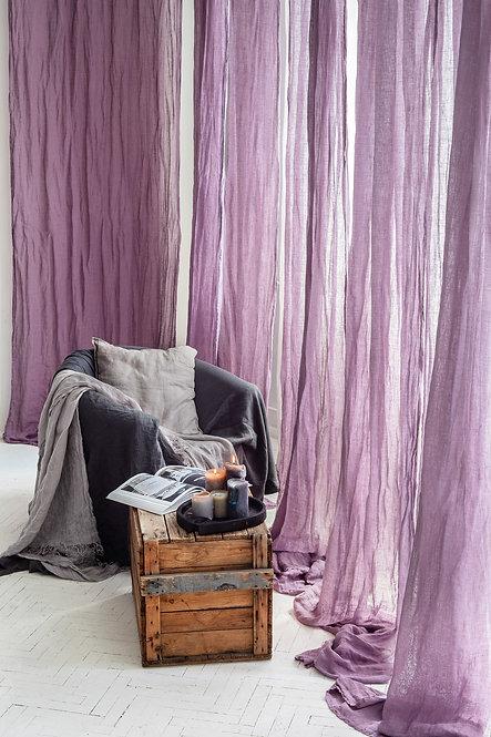 lavendel gardiner av lin