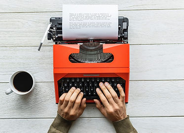 orange-typewriter-black-coffee-caffeine-