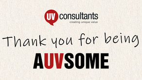 """Thank you for being A""""UV""""SOME"""