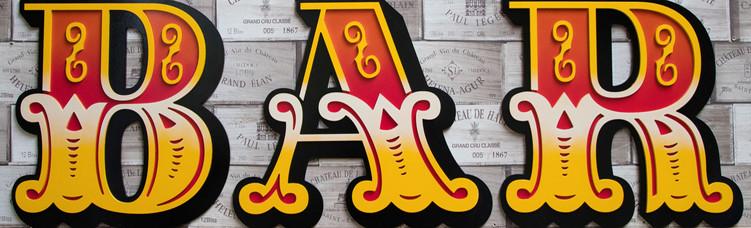 3D Bar lettering