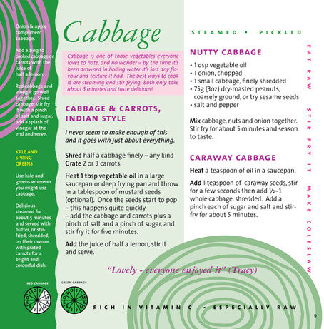 The Friendly Vegetable Book, Cabbage
