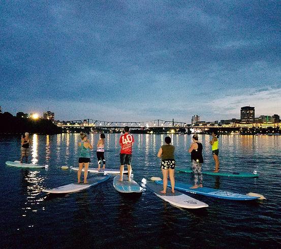 City Lights Floating Yoga Ottawa