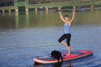 Harmony and Kharma SUP Yoga in Hood River, Oregon