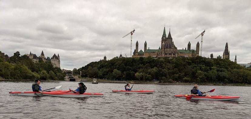 Urban Ocean Kayak Ottawa Parliament Paddle