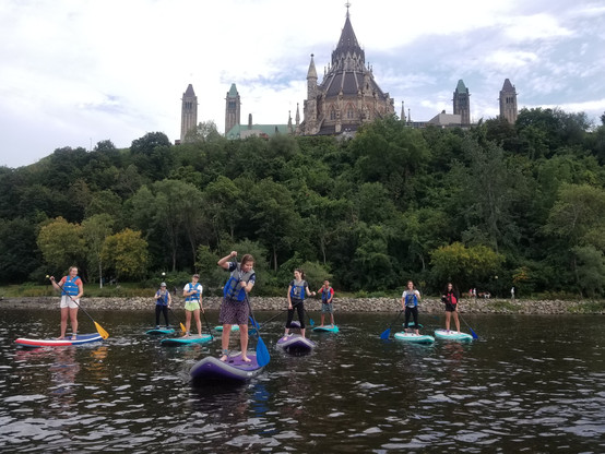 Parliament Paddle with Ottawa Youth Group
