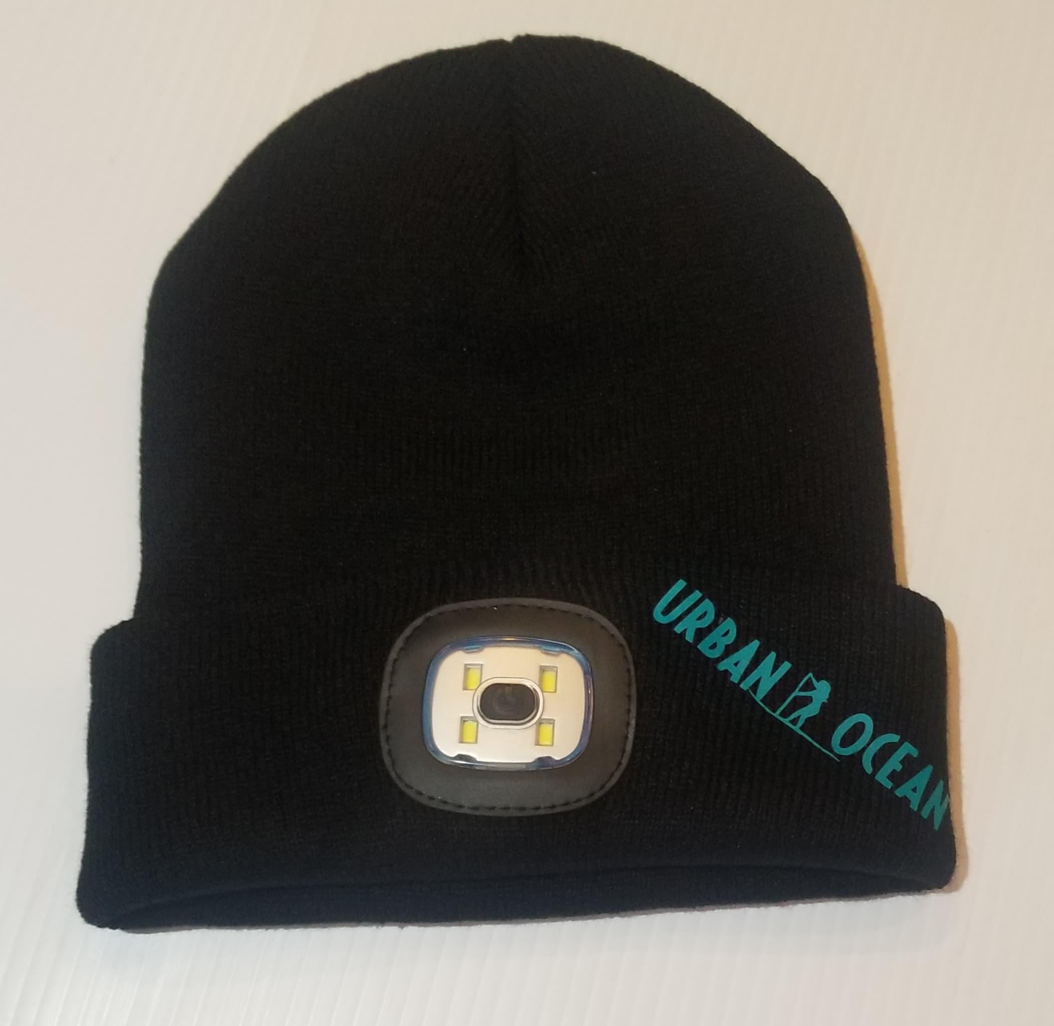 Black/Teal winter SUP Light hat