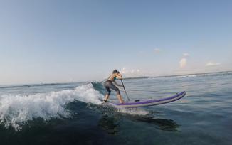 Harmony on the Kharma board SUP Surfing in Bali