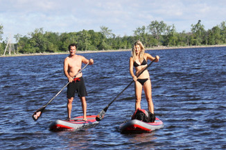 Harmony, Kharma and Dan on the Ottawa River