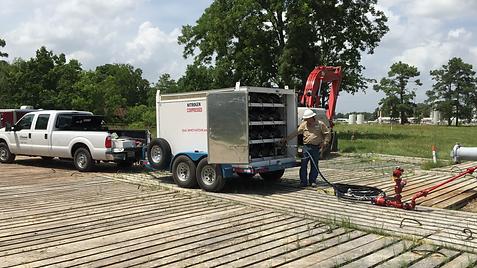 High Pressure Tube Trailer Nitrogen Testing Texas