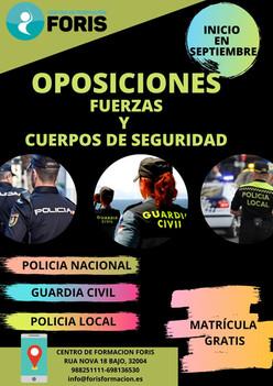 Iniciamos en Septiembre, la preparación de Oposiciones para Fuerzas y cuerpos de Seguridad (Policia