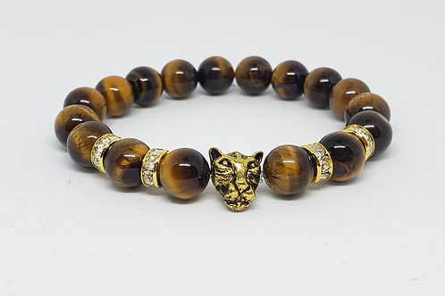 LARGE Charged Tiger Eye Bracelet(Calm Emotions,Decision and Making,protection)
