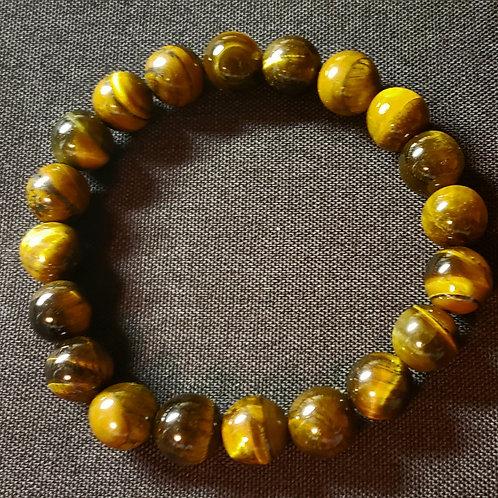 NATURAL Tiger Eye Bracelet (Help decision & $ Making, healing,calm emotions)10mm