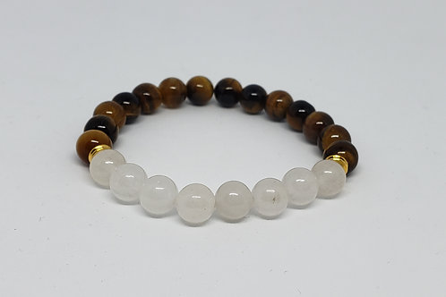Charged Tiger Eye and JadeBracelet(Calm Emotions,Decision & $Making,protection)