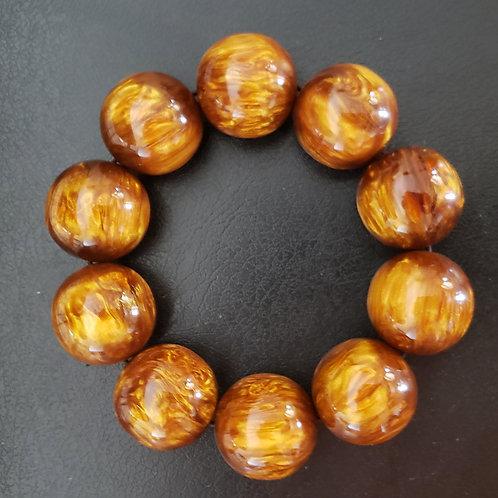HUGE Golden Black Coral Sea Willow Bracelet AAA (Give Positive Energy, Healing)