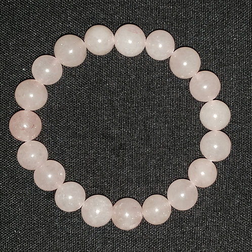 NATURAL Rose Quatz Bracelet (Increase Popularity,attract love,calm emotions)