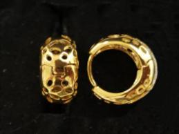 18k Yellow Gold Filled Hook Earrings - size: 14 mm
