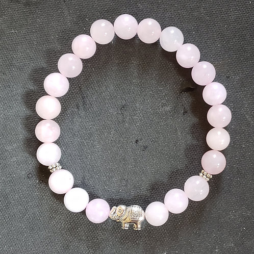 NATURAL Rose Quartz Bracelet(calm emotions,Increase popularity,keep/attract love