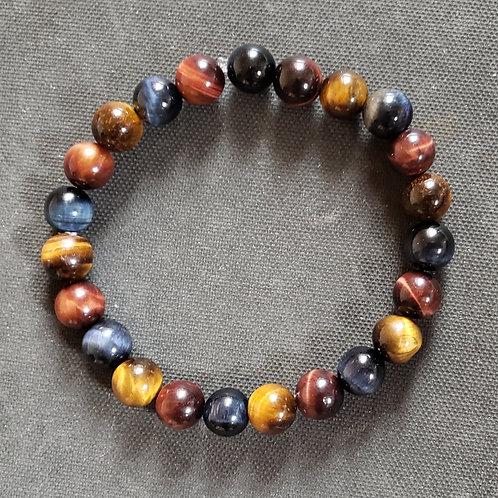 Natural Tiger Eye Bracelet(calm emotions,remove negative ener,decision & $ makin