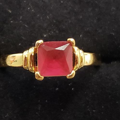 24k Gold Filled Crystal Ring - size 7