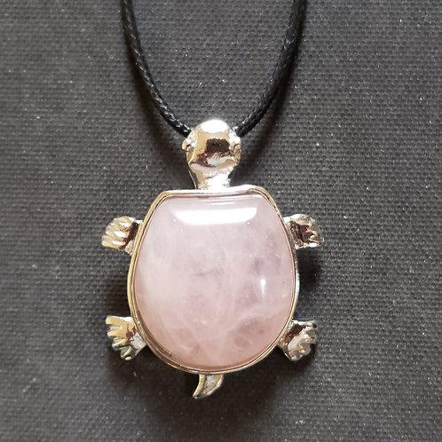 NATURAL Rose Quartz Turtle Bracelet(calm emotions, Help popularity, attract love