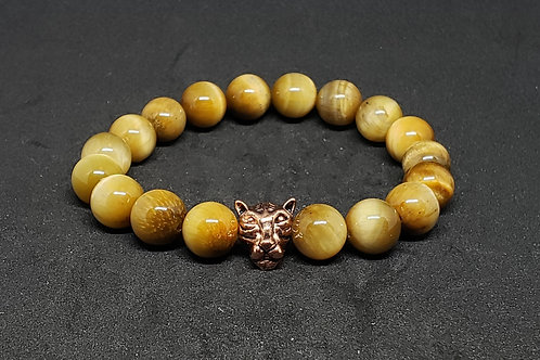 NATURAL Tiger Eye Bracelet(Calm Emotions,Decision & $ Making,Remove Negatively)