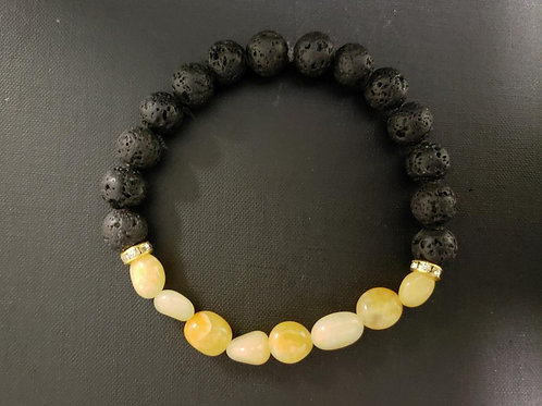 Jade Lava Rock Oil Essential Bracelet (protection,calm emotions,healing,Health)