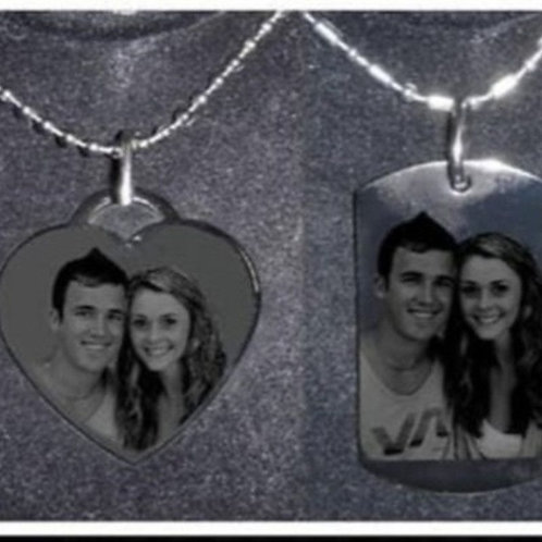 Personalized Heart Necklace & a Dog Tag