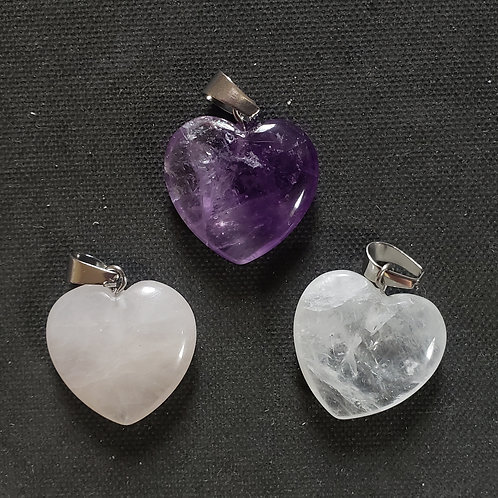 NATURAL Amethyst,Rose Quartz,Crystal Rock Pendants(healing,Increase popularity)