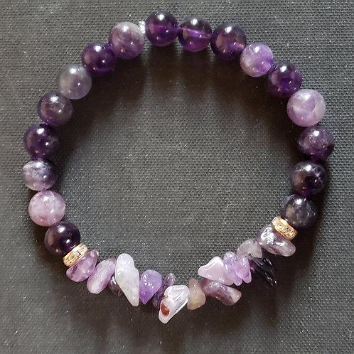 NATURAL Amethyst Bracelet (protection,master healer, calm emotions)